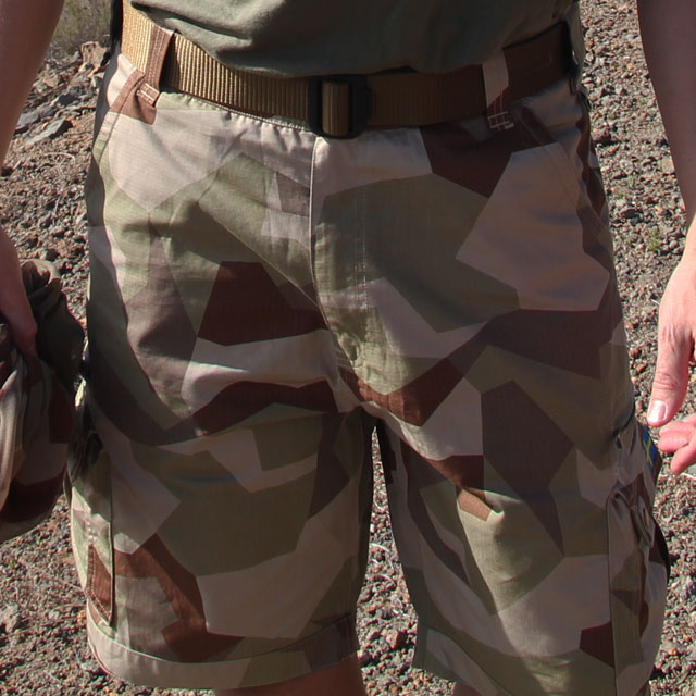 Backside view of then Camp Shorts M90K Desert.