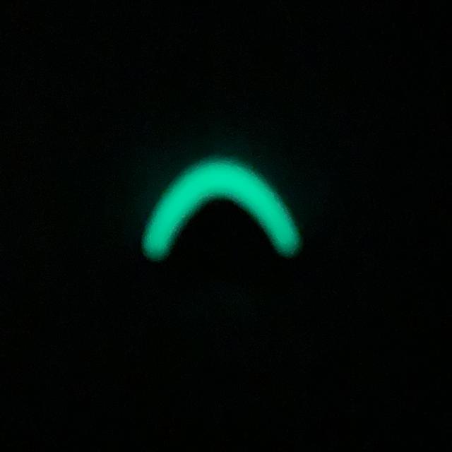 Cord End Black/Glow i the dark in the dark