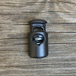 Cord Lock Shiny Black