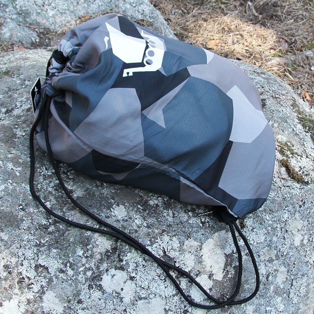 Side view of a Drawstring Sports Bag M90 Grey