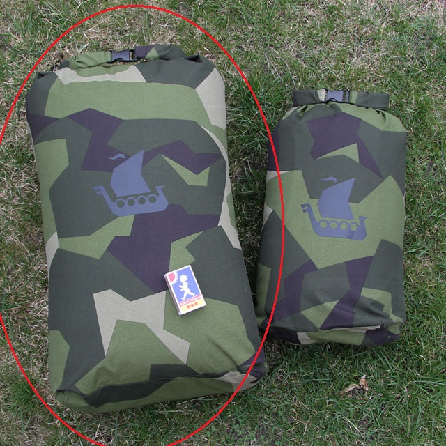 The Dry Sack M90 sack to the left is the Large size and the one on the right is Medium size