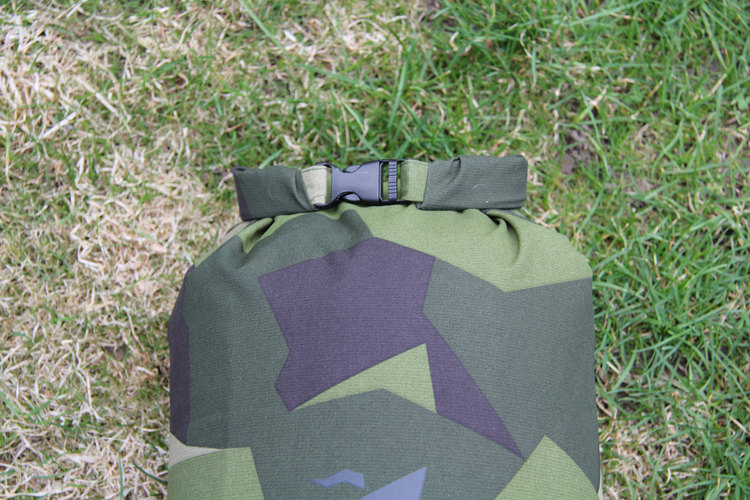 Locked and ready to go, a Medium sized Dry Sack M90