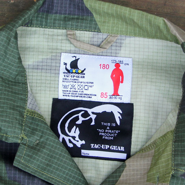 Labels inside a Field Shirt M90.