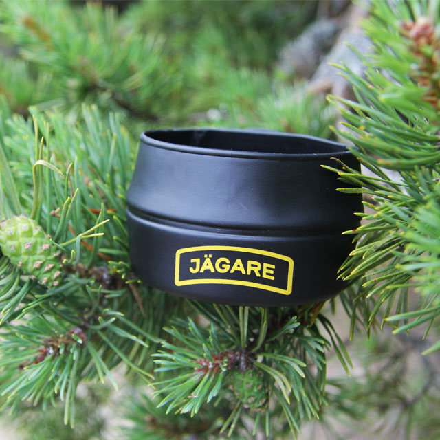 Pinetree and Folding Cup JÄGARE Black/Yellow/Black in this product picture.