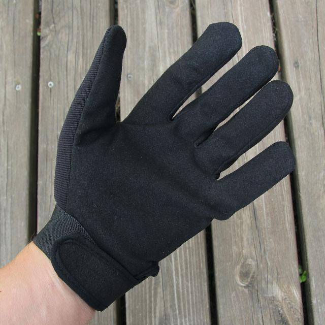 DZ Glove Black palm area.