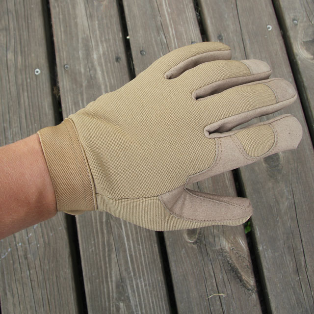DZ Glove Tan stretchable upper.