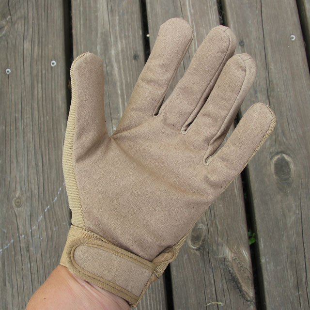 DZ Glove Tan palm area.
