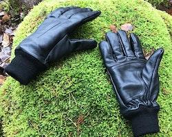 Officer Black Leather Glove