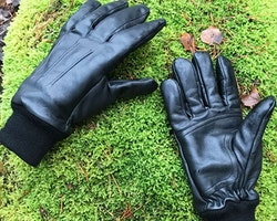 Officer Black Leather Glove