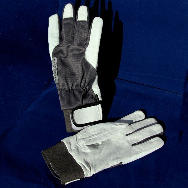 Permafrost Gloves with blue background.
