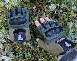 Short Finger Tactical Glove Green