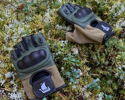 Short Finger Tactical Glove Green