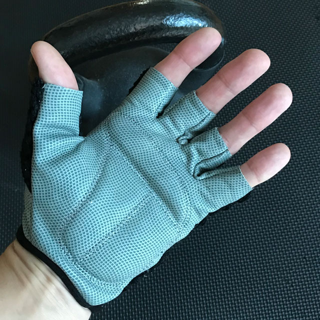 Palm area of a Training Glove Net Black.