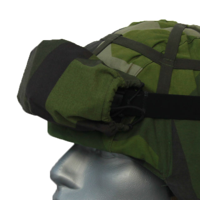 Mounted Goggle Cover M90 on a helmet.