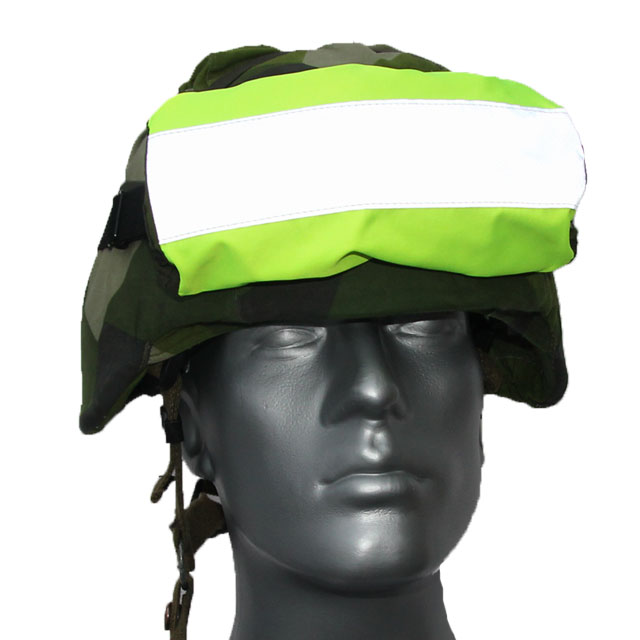 Reflective and high visibility shown while wearing a Goggle Cover M90.