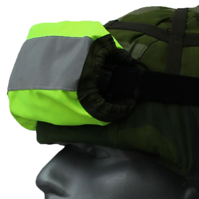 High visibility when wearing a Goggle Cover M90 reversed on your helmet.