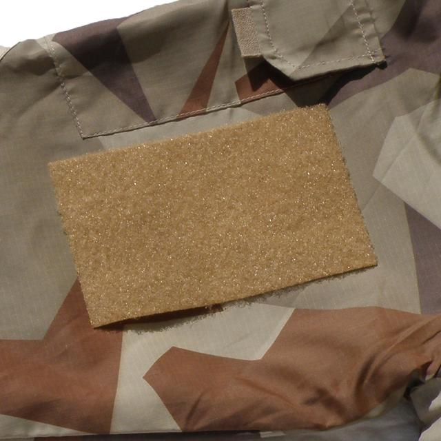 Kardborre Panel 9x14 Tan with M90K Desert camouflage background.
