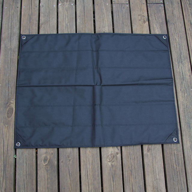 Full backside of a Kardborre Wall Mat Display Black.