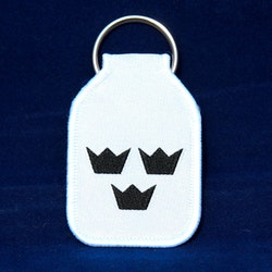 Keyring White With Crowns