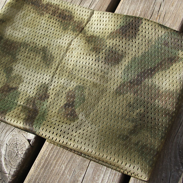 Camouflage print on a Sniper Scarf Marshland.