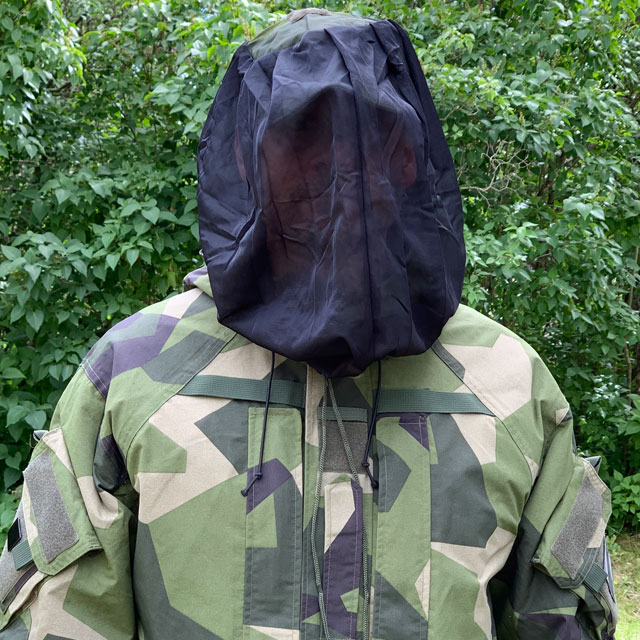 Front view of a Mosquito Head Net Black/M90