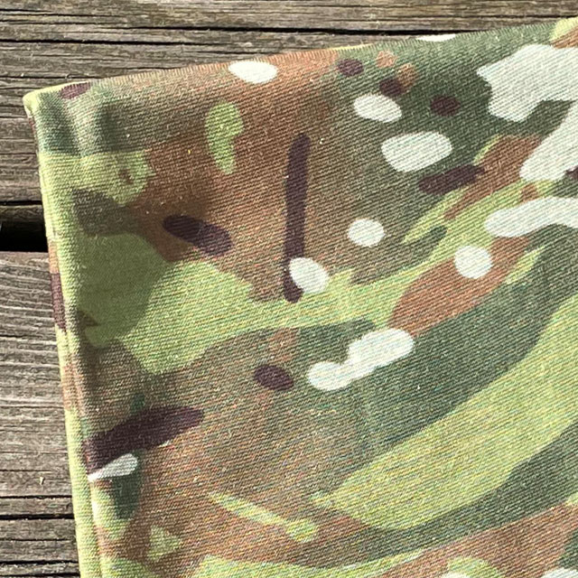 A close up on a The Multiwrap Coolmax Camo from TAC-UP GEAR