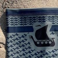 Neck Tube Shemagh Navy Grey