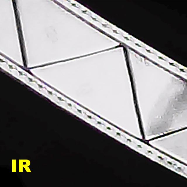 Orange Ruck Signal Panel Marker reflective stripes through a IR camera, pic 2