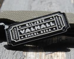Biljett Valhall PVC Svart/Vit
