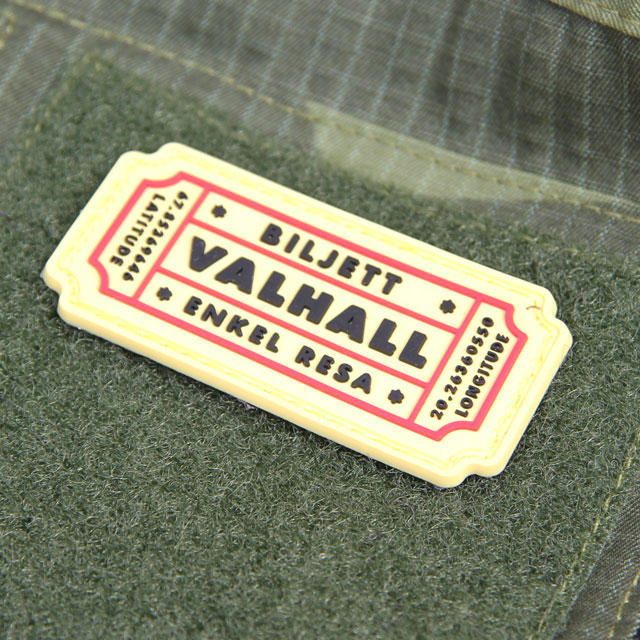 Biljett Valhall PVC Gul/Röd.