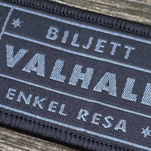 En närbild på en Biljett Valhall Svart/Grå