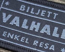 Biljett Valhall Svart/Grå