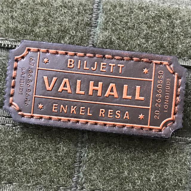 Finaste ko läder är basen i en Biljett Valhall Läder Patch.