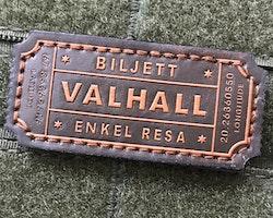 Biljett Valhall Läder Patch