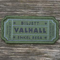 Biljett Valhall Militärgrön