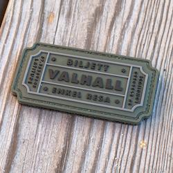 Biljett Valhall PVC Militärgrön