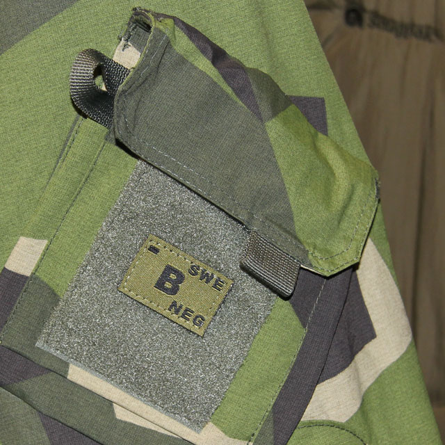 B- Bloodtype Hook Patch Green.
