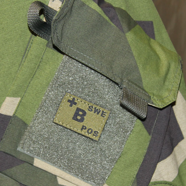 B+ Bloodtype Hook Patch Green.