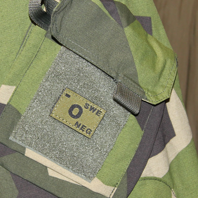 O- Bloodtype Hook Patch Green.