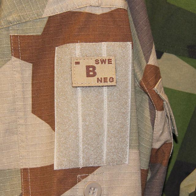 B- Bloodtype Hook Patch Desert Tan.
