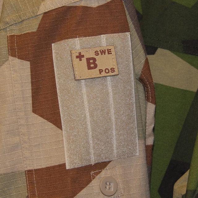 B+ Bloodtype Hook Patch Desert Tan.