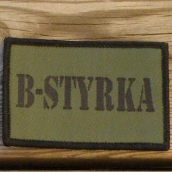 B-Styrka Hook Green Patch