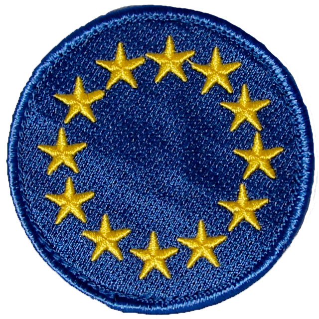 EU Blue Embroidered Patch.