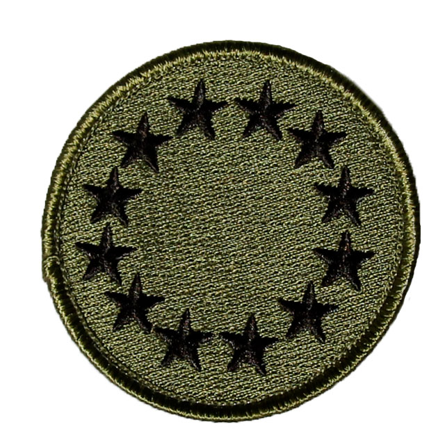 EU Green Embroidered Patch.