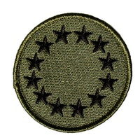 EU Green Embroidered Patch