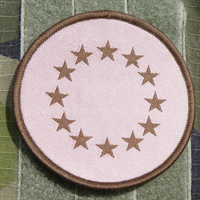 A round EU Desert Patch.