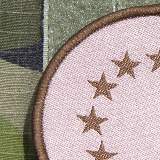 Close up of a EU Desert Patch.