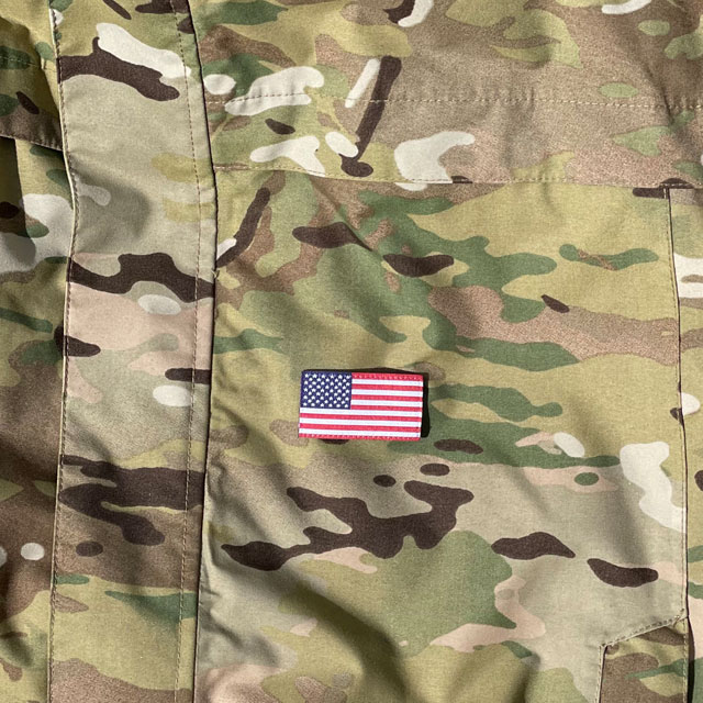 American Flag Hook Patch Small