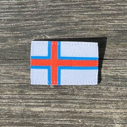Faroese Flag Hook Patch Small