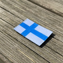 Finland Flag Hook Patch Small